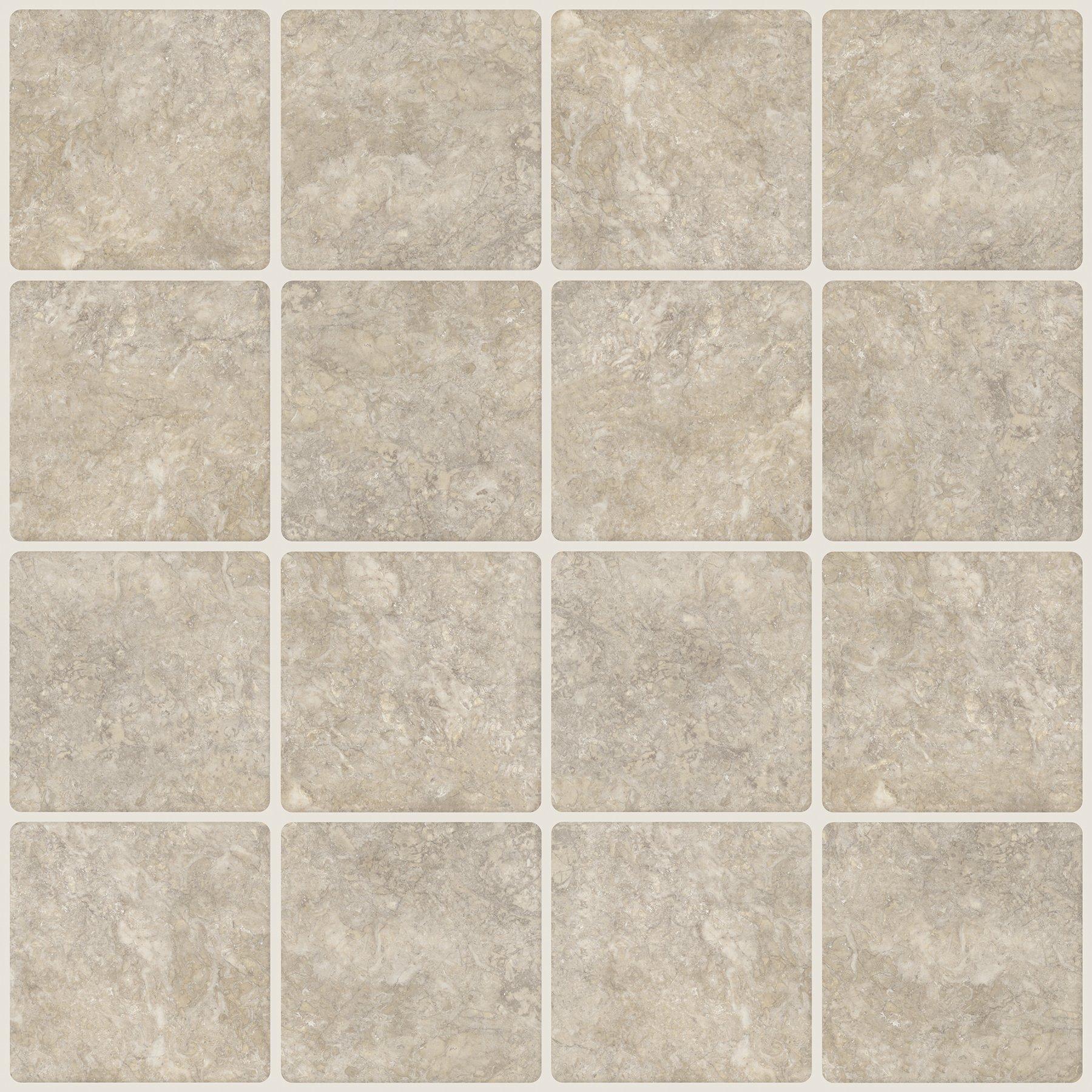 In Home NH2364 Travertine Squares Peel & Stick Backsplash Tiles Neutral