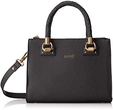 5ebc7b6b7e4b Liu Jo Manhattan Satchel Zip S Nero  Amazon.fr  Chaussures et Sacs