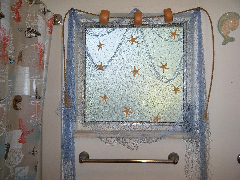 Fish net curtains curtain menzilperde net for Fishing net decor