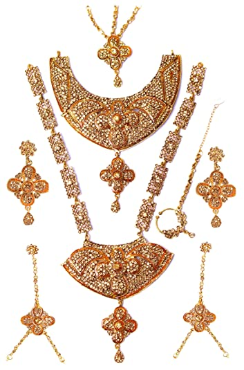 fee81def56 Buy Nmj Gold Plated Artificial Bridal Jewellery Set For Women Online ...