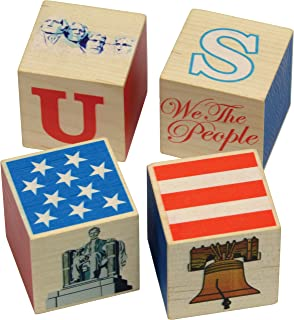 product image for USA Blocks, 4 Piece Set - Made in USA