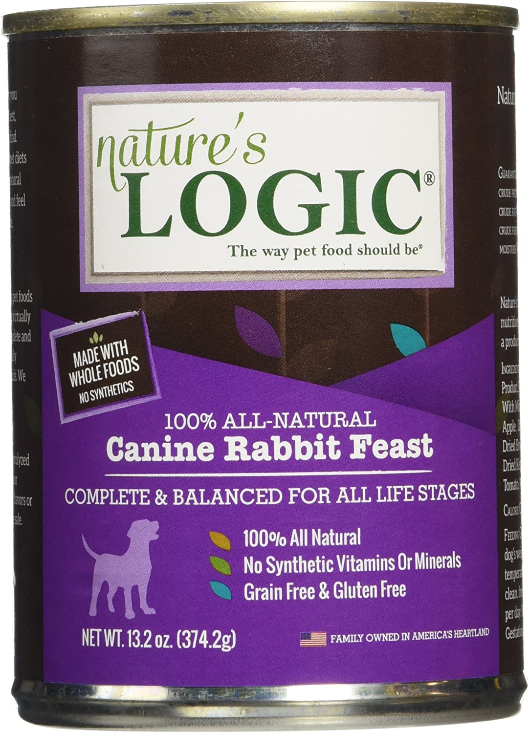 Nature'S Logic Rabbit Canned Dog Food, 12-13.2 Oz.