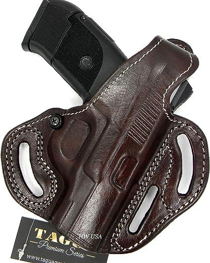 Ruger SR9C OWB No Shield Leather Holster Right Handed Black
