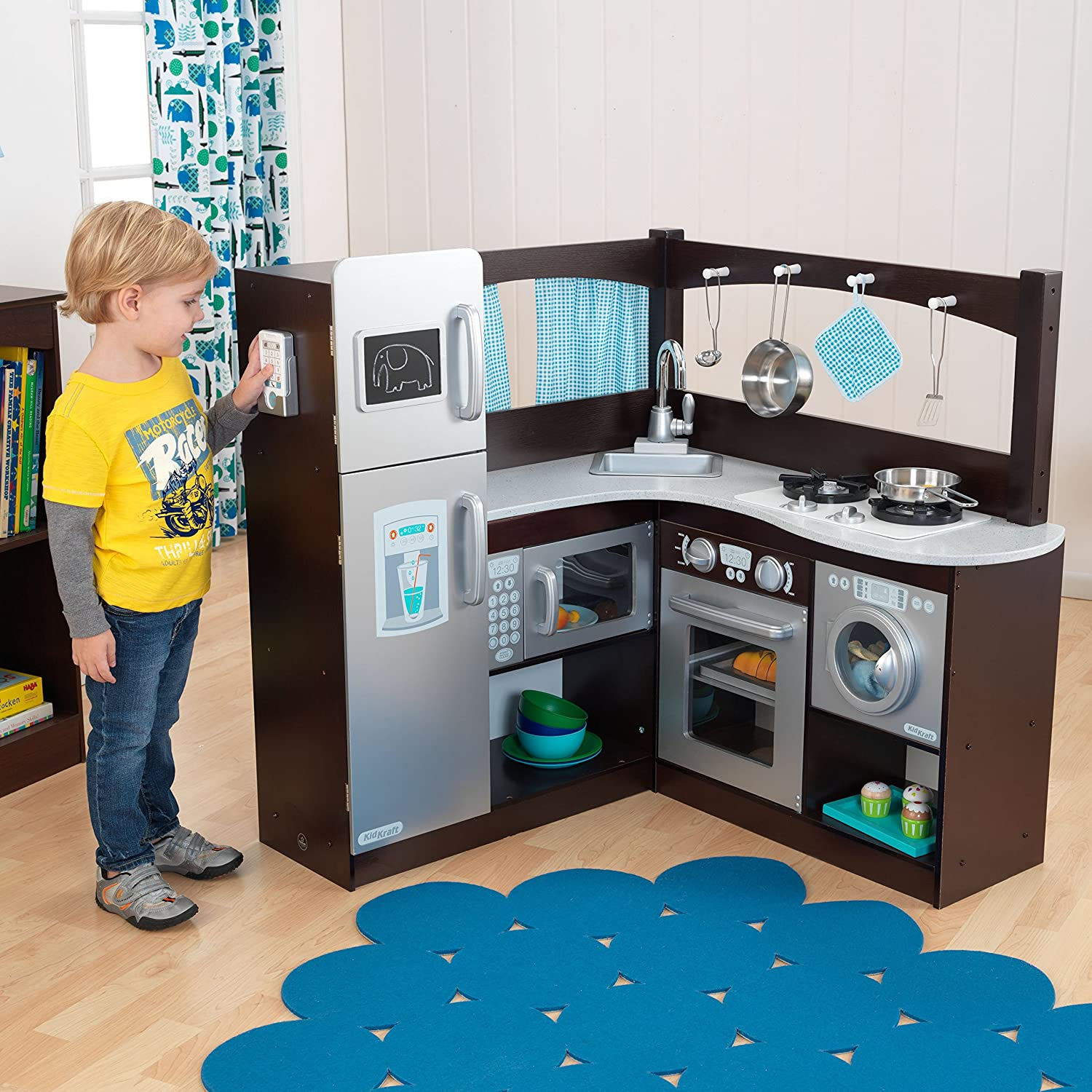 Amazon.com: KidKraft Grand Espresso Corner Kitchen: Toys & Games