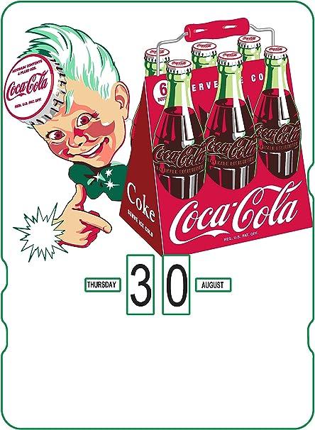 Calendario perpetuo Coca-Cola: publicidad Vintage con Livreur de ...