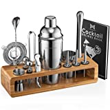 Mixology Bartender Kit: 23-Piece Bar Set Cocktail Shaker Set with Stylish Bamboo Stand | Perfect for Home Bar Tools Bartender