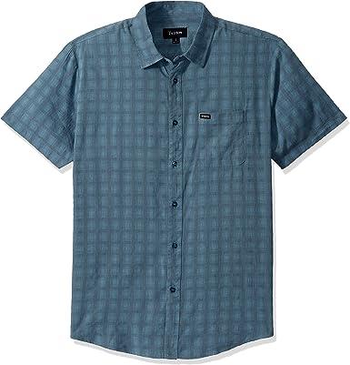 Brixton Charter Plaid - Camisa de manga corta para hombre - Azul - X-Small: Amazon.es: Ropa y accesorios