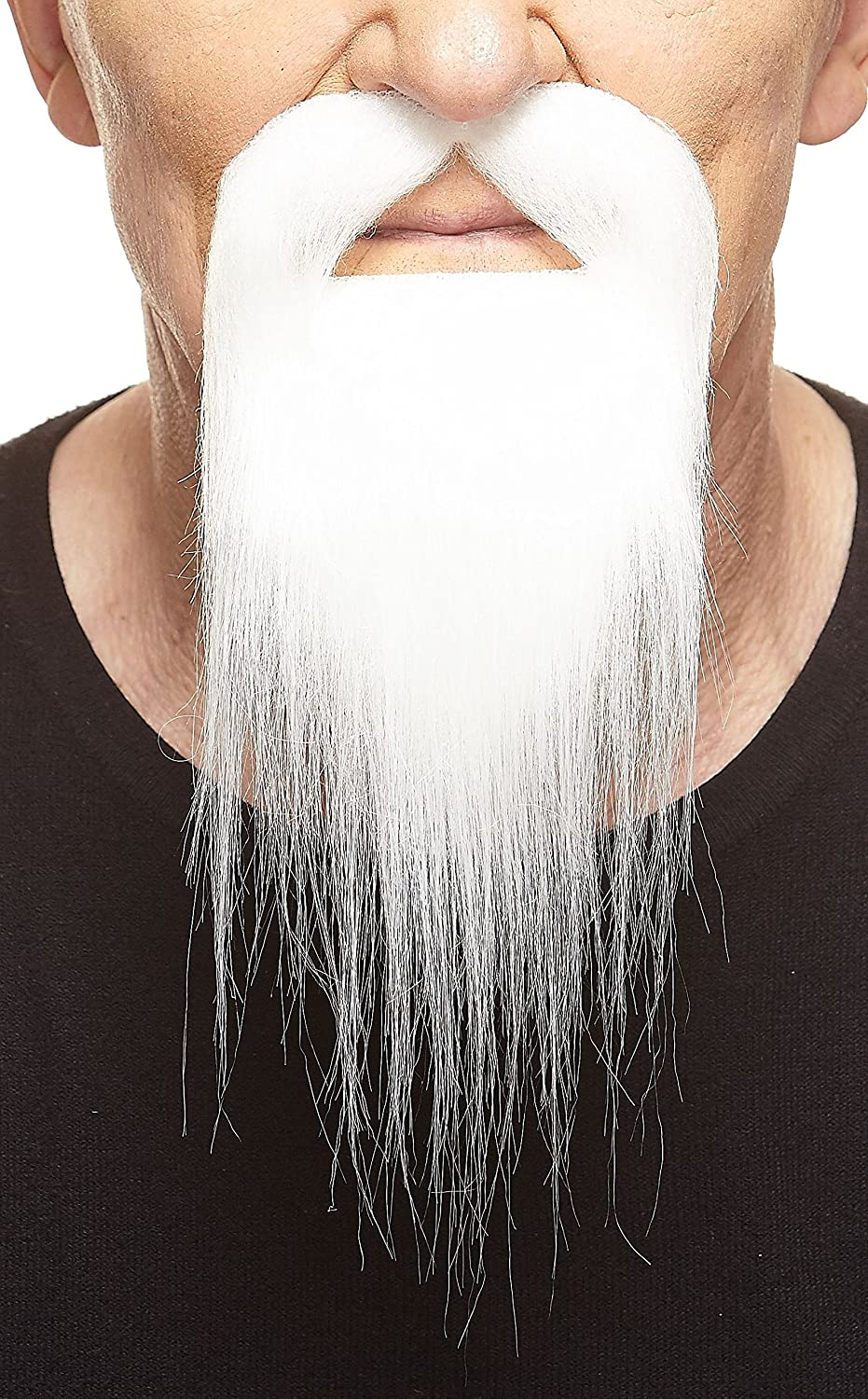 Novelty Ducktail Fake Beard Mustaches Self Adhesive False Facial Hair Costume Accessory for Adults