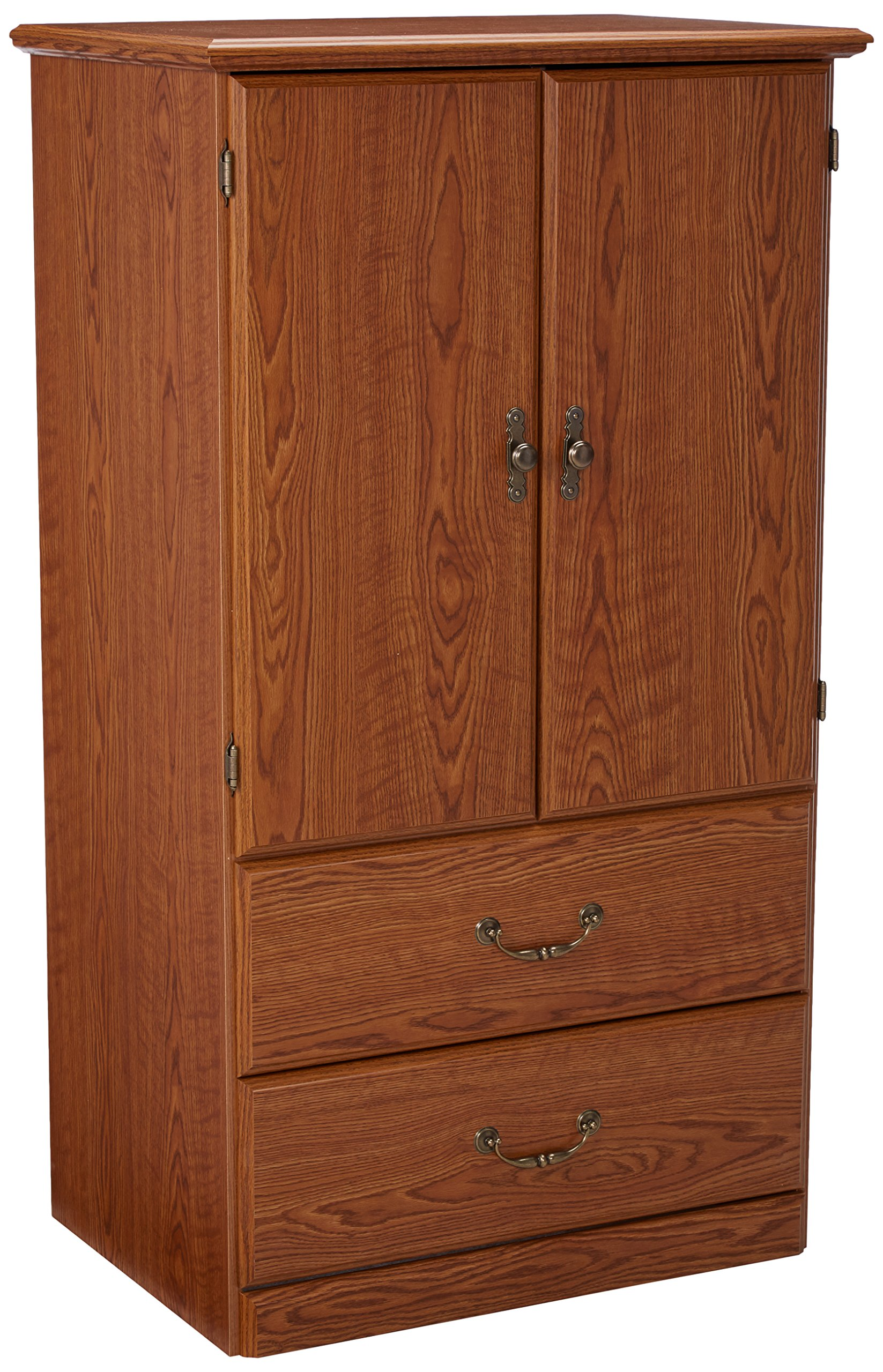 Sauder 401292 Orchard Hills Armoire, L: 30.95'' x W: 20.83'' x H: 54.65'', Carolina Oak finish