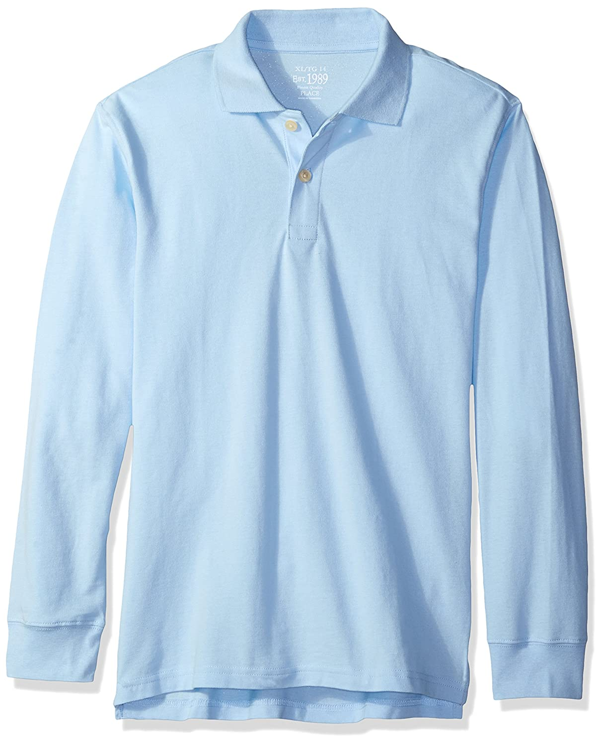 The Childrens Place Boys Little Long Sleeve Uniform Polo Brook Small//5//6