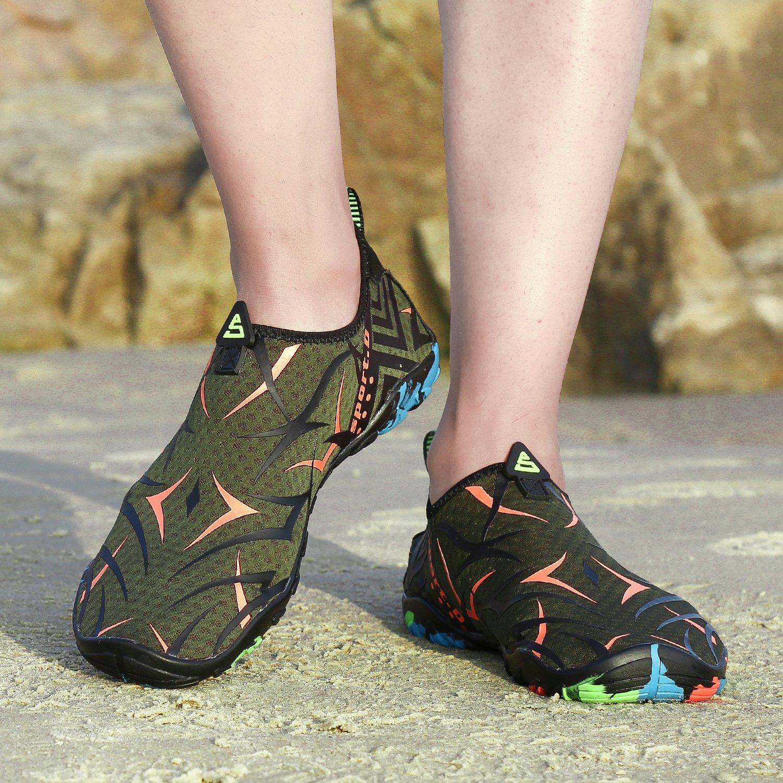 Kuuland Water Aqua Shoes Quick Dry Barefoot Aqua Water Socks Beach Swim Pool Surf Shoes for Swimming Diving Walking Yoga Men Women B07CWJZJ6R 5 B(M) US Green02 77a50d