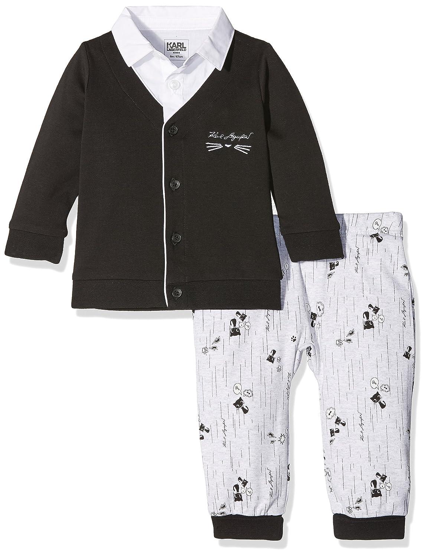 Karl Lagerfeld Kid Unisex Baby Unterwäsche-Set Ensemble Cardigan+Pantalon Noir (Black) Z98012