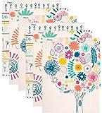 """Mead Pocket Folders, 2-Pocket, 12"""" x 9-3/8"""", Botanical Boutique, Assorted Designs, 6 Pack (73833)"""