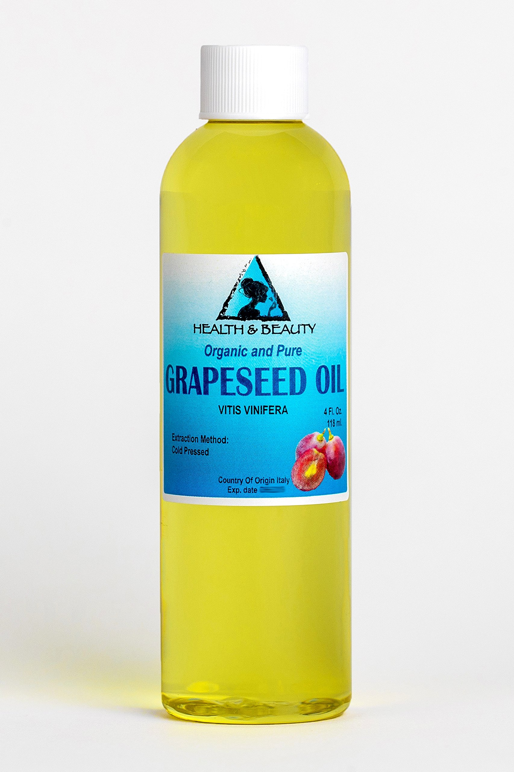 Grapeseed Oil Organic Carrier Cold Pressed 100% Pure 4 oz