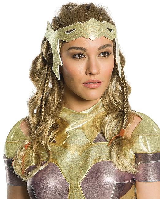 57a5d5cbe5c Secret Wishes Women's Wonder Woman Movie Hippolyta Costume Wig, As ...
