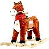 Baybee Unicorn Horse Mini Wooden Rocker, Dark Chocolate