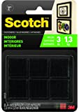 Scotch Reclosable Fasteners, 7/8 Inches, Black Squares, 24 Each (RF7121X)