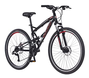 Dual Suspension Mountain Bikes With Free 14 Day Test Ride >> Schwinn S29 Dual Suspension Mountain Bike Featuring 18 Inch Medium Aluminum Frame 29 Inch Wheels With Mechanical Disc Brakes 21 Speed Shimano