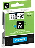 Dymo D1 Standard Self Adhesive Labels For LabelManager Printers 12 mm x 7 meters Black Print on White