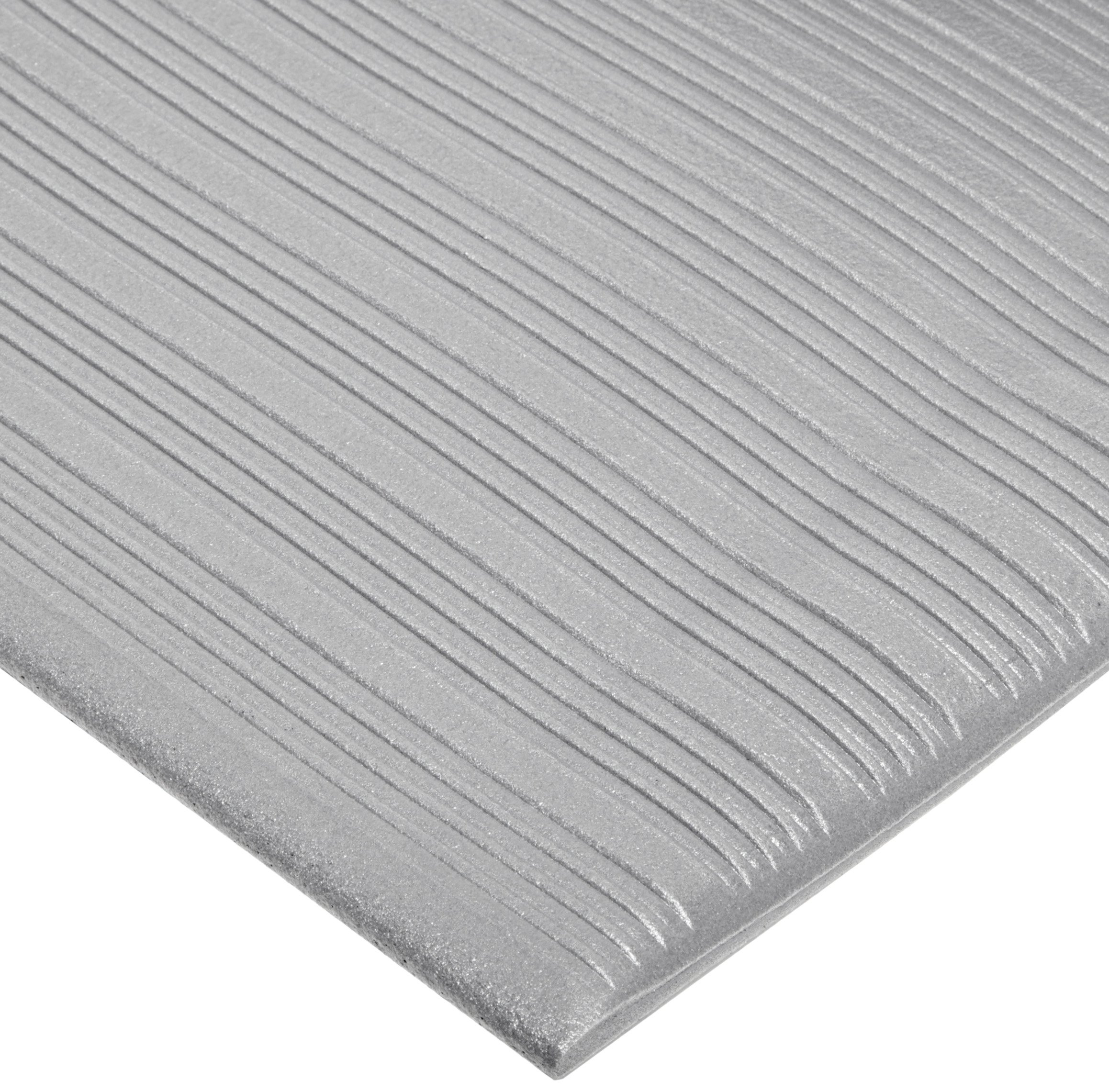 NoTrax 410 PVC Airug Safety/Anti-Fatigue Floor Mat, for Dry Areas, 3' Width x 12' Length x 3/8'' Thickness, Gray