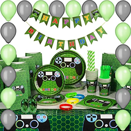 Game On Party Supplies Lunch Plates 8 Pack Video Games Gaming Tableware