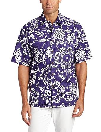 d1b330b3 Kahala Men's Dukes Pareo Full Button Front Shirt - Purple - S ...
