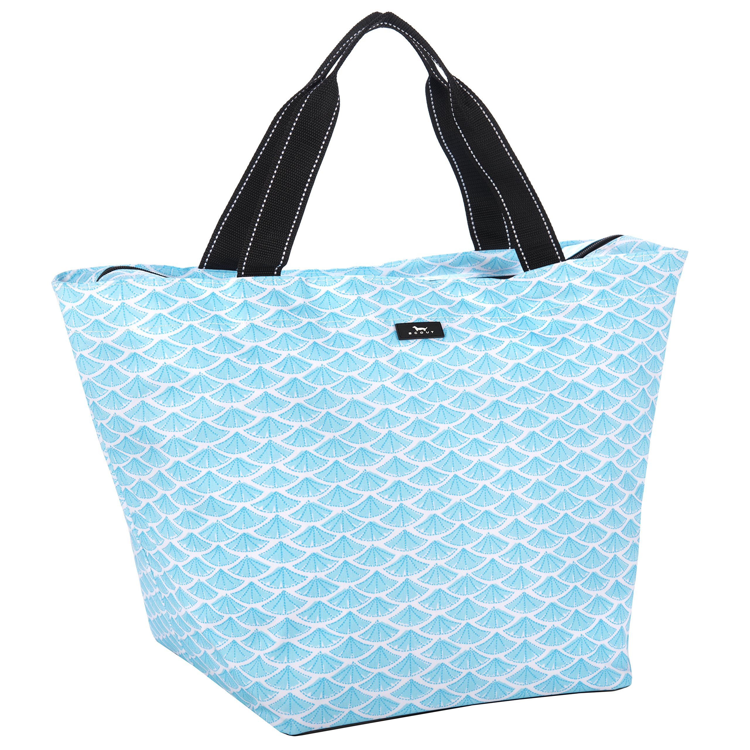 SCOUT Weekender Travel Tote Carry On Bag, Internal Zippered Pouch, Water Resistant, Zips Closed, Swimfan