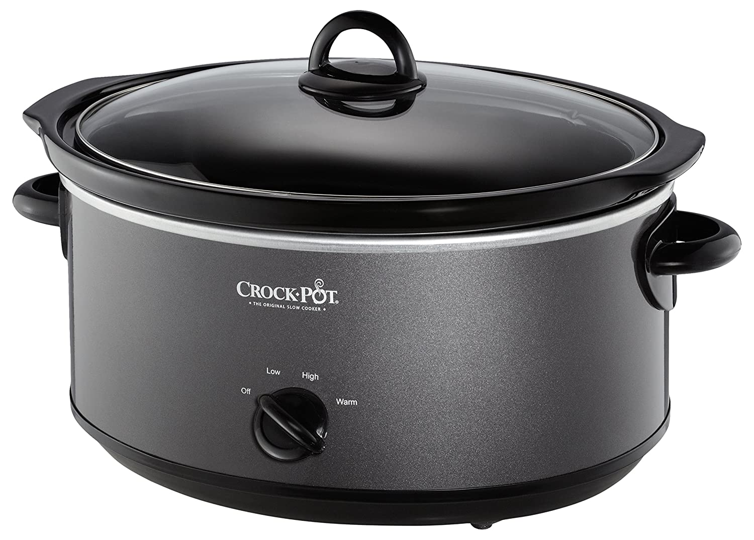 Amazon.com: Crock-Pot SCV700-KC 7-qt. Slow Cooker(Charcoal): Kitchen ...