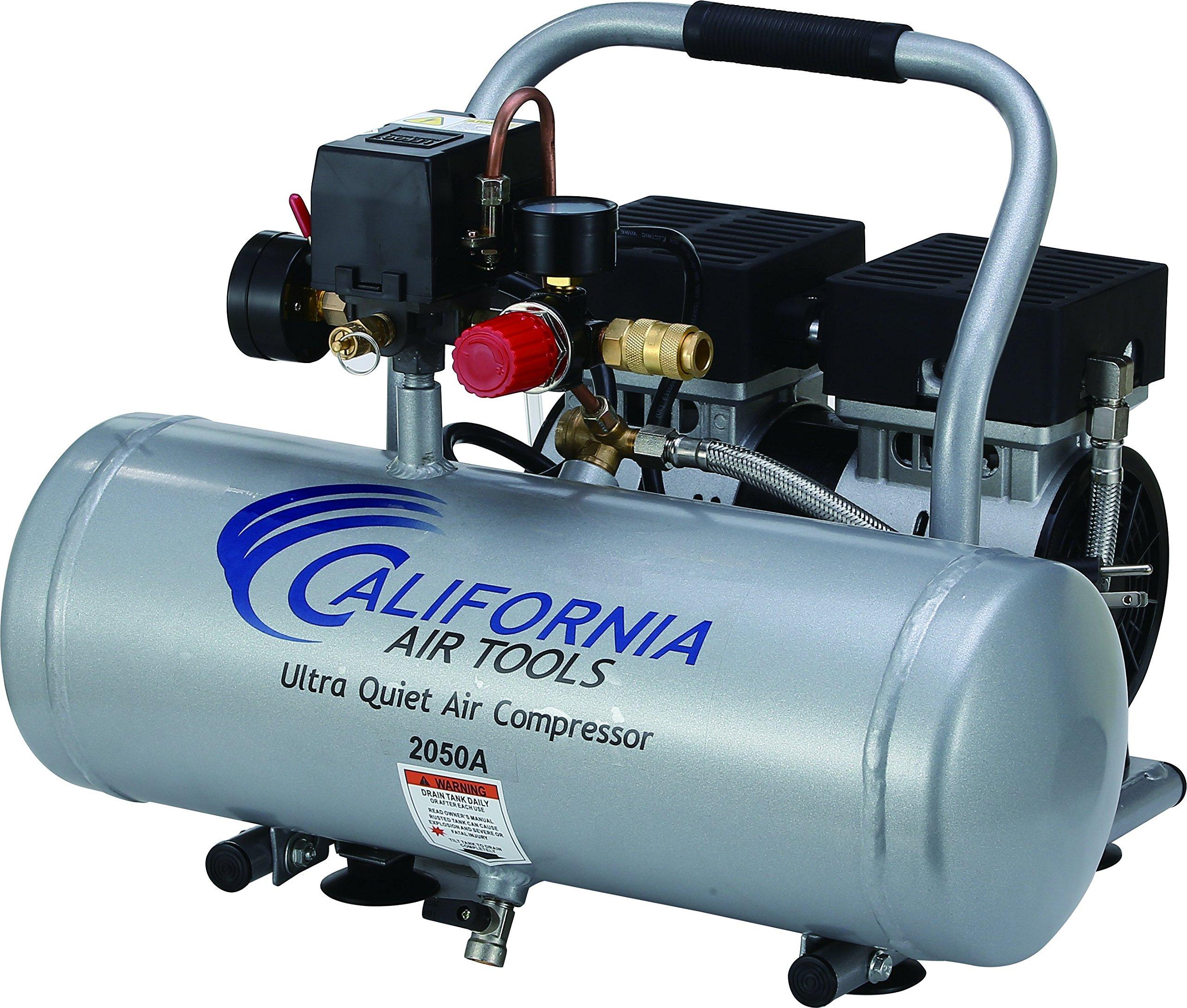 California Air Tools 2050A Ultra Quiet and Oil-Free 1/2 HP 2.0 -Gallon Aluminum Tank Air Compressor