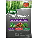 Scotts Turf Builder Southern Triple Action - Weed Killer, Lawn Fertilizer, Fire Ant Killer & Preventer - Kills Clover, Oxalis