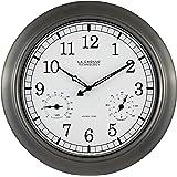 La Crosse Technology WT-3181P 18 Inch Indoor/Outdoor Thermometer & Hygrometer Metal Wall Clock