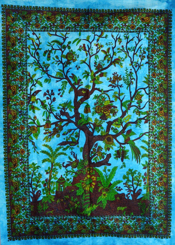 Decorazione da parete a forma di albero della vita, arazzo o dipinti da parete. Green Amazingindiaonline