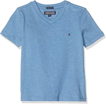 Tommy Hilfiger Boys Basic Vn Knit S/S Camiseta para Niños