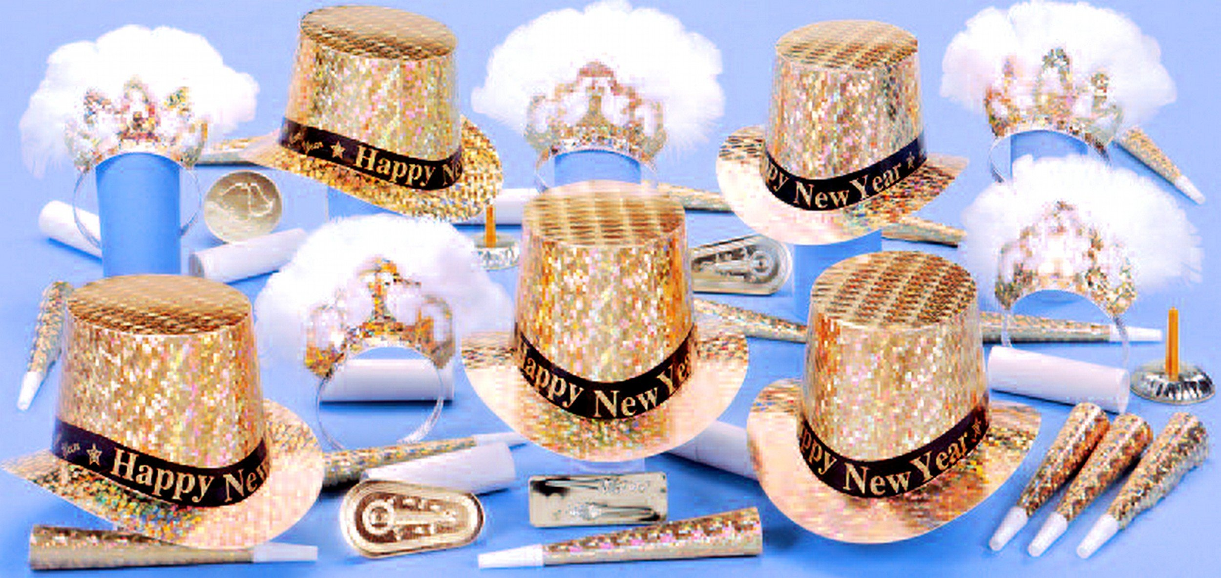Regency Party Kit W/ Happy New Year Band for 50