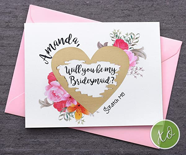 amazon com bridesmaid scratch off cards bridesmaid cards will you