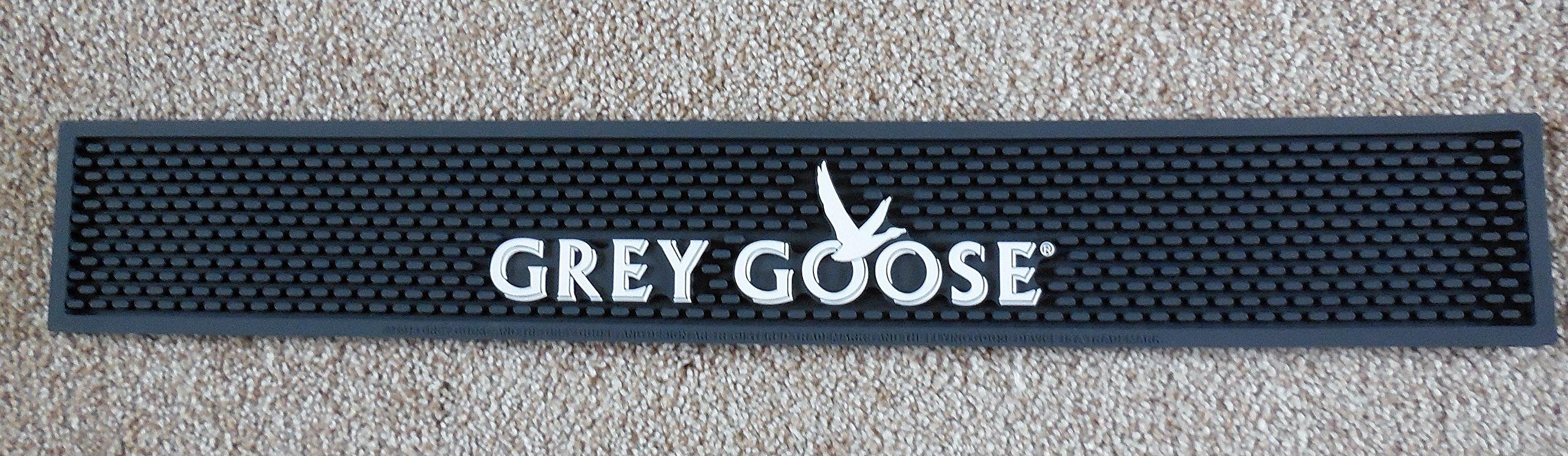 Grey Goose Bar Rail Spill Mat -Grey NEW