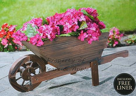 Decorazioni In Legno Per Giardino : Fioriera woodburn carriola da giardino in legno ornamento