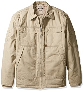 f8066604 Wrangler RIGGS WORKWEAR Men's Big and Tall Ranger Jacket, Dark Khaki, Tall/ Large