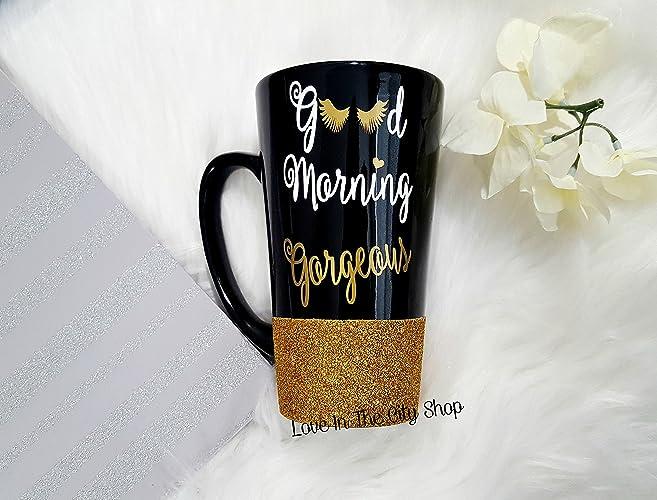 ad8c4cf1a23 Amazon.com: Hello Gorgeous Mug, Good Morning Gorgeous, Hello ...