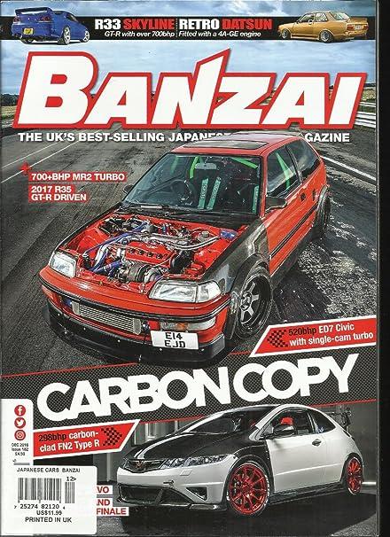 Pick An Issue BANZAI Magazine Back Issues 2015-2018 Japanese Car