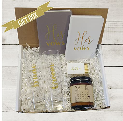 Amazon Com Engagement Gift Box For Bride His And Hers Vows Books