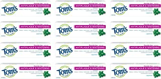 product image for Tom's of Maine Fluoride Free Antiplaque & Whitening Toothpaste, Travel Size Toothpaste, Trial Size Toothpaste, Natural Toothpaste, (15901), Peppermint, 1 Ounce (Pack of 12)