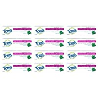 Tom's of Maine Natural Fluoride Free, Antiplaque Tartar Control & Whitening Toothpaste...