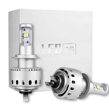 H7 High Power Auto Exterior LED faros bombillas kits de conversión H7 Bulbs Reemplazar halógeno HID