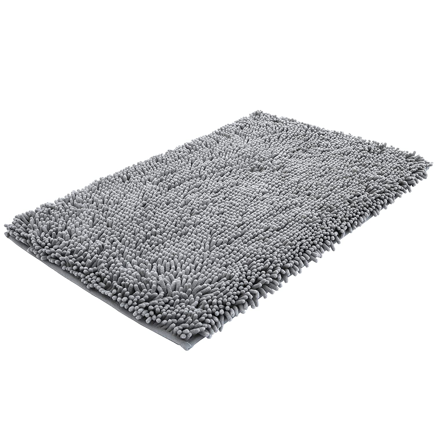 Amazoncom Super Soft Bath Mat Microfiber Shag Bathroom Rugs Non - Black chenille bath rug for bathroom decorating ideas