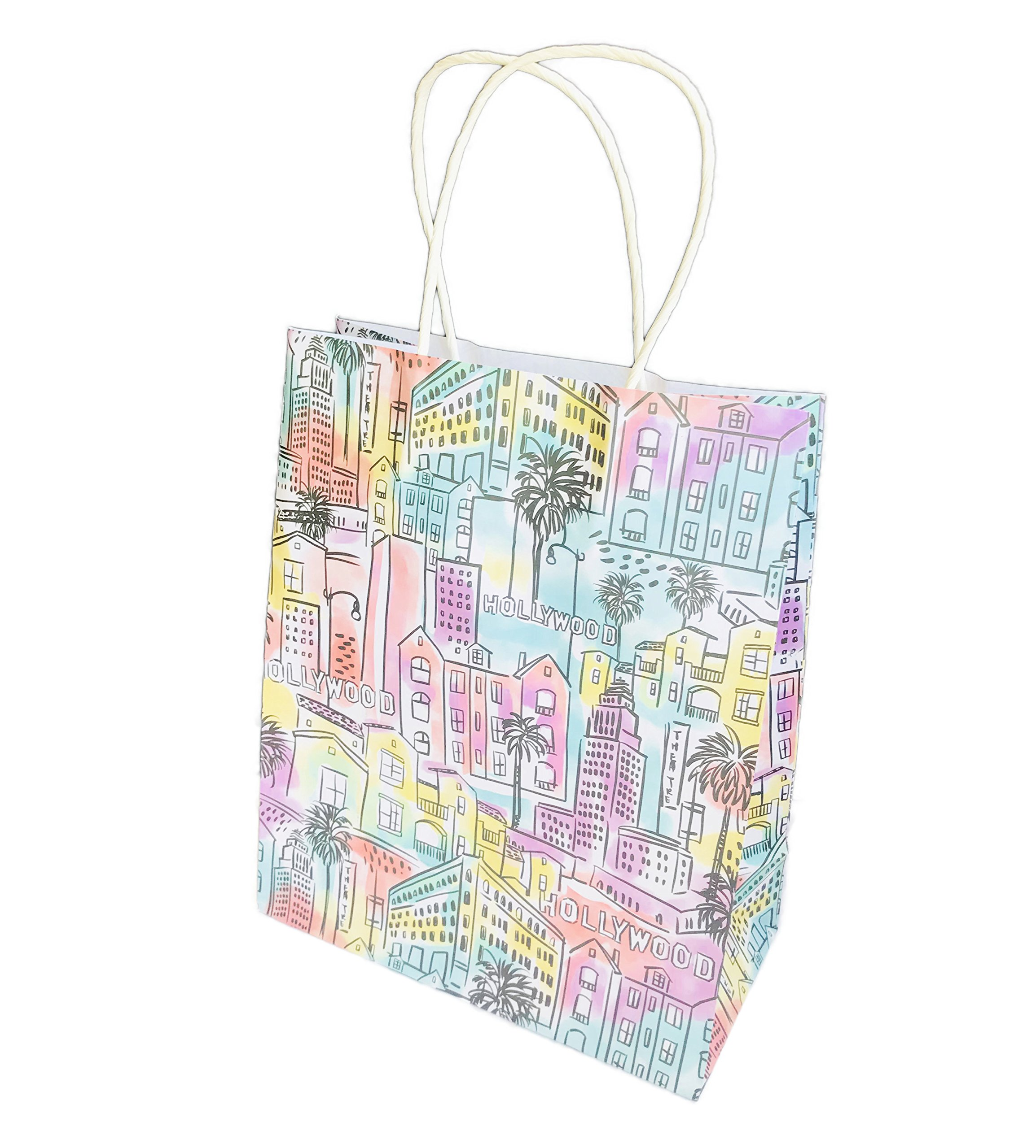 Destination City Themed Novelty Party Gift Bag 12.75 x 10.5 x 5 (Los Angeles)