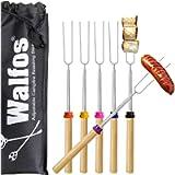 Marshmallow Roasting Sticks, BBQ Telescoping Smores Skewers,Campfire Roasting Sticks & Hot Dog Forks for Kids (6 pcs, 32…