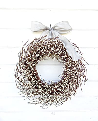 the latest 3f39a 50956 Christmas Wreath, Winter Wreath, Spring Wreath, Wedding Decor, White  Wreath,Holiday Wreath, Christmas Wreath, Year Round Wreath, Housewarming  Gift, ...