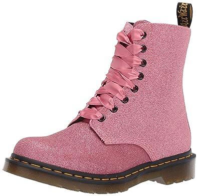 cc63a065b1b8 Dr.Martens Femme 1460 Pascal Glitter Glitter PU Synthetic Pink Bottes 36 EU