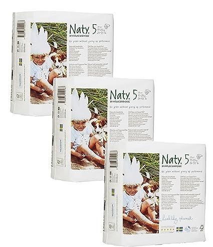 Manada con 3 pañales naty Junior (tamaño 5) 69 pañales